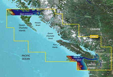 Garmin VCA501L G3 Vision Vancouver To Dixon Entrance - # 010-C0701-00