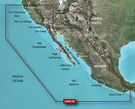 Garmin HXUS021R G2 Micro SD California - Mexico