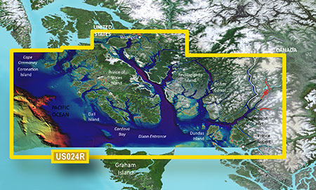 Garmin VUS024R G2 Vision Wrangell To Dixon Entrance