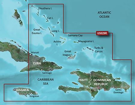 Garmin HXUS029R G2 Micro SD Souther Bahamas