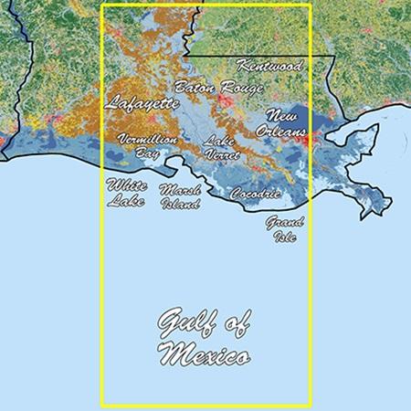 Garmin Louisiana Central Standard Mapping Professional - # 010-C1170-00