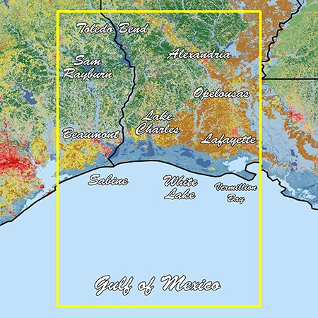 Garmin Louisiana West Standard Mapping Classic - # 010-C1171-00
