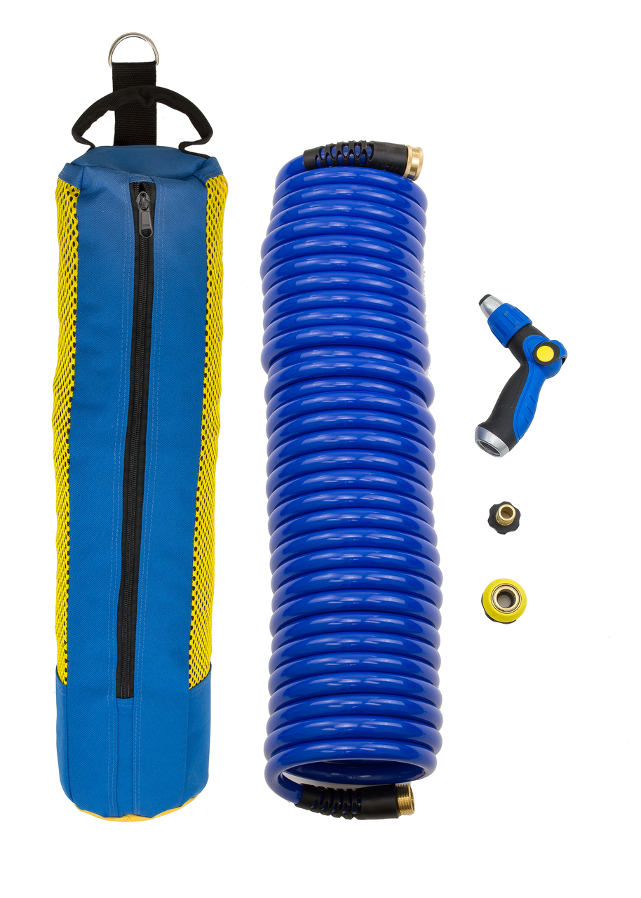 HoseCoil Storage System 60' Hose With Nozzle