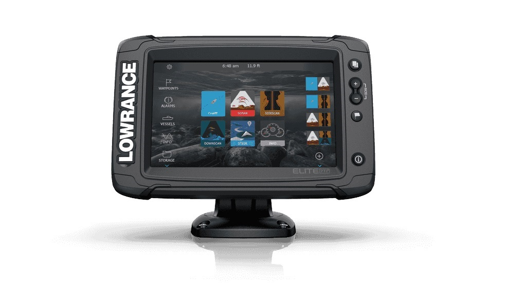 LOWRANCE ELITE-7 TI² COMBO W/ACTIVE IMAGING 3-IN-1 TRANSOM MOUNT TRANSDUCER  US INLAND CHART