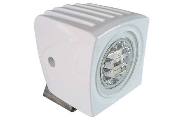 Lumitec Cayman LED Floodlight White Housing White/Blue Light - # 101251