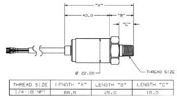 Maretron 0-5 PSI Transducer