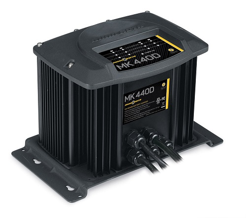 Minn Kota MK440D Digital Charger 4 Bank 10 Amps - # 1824405