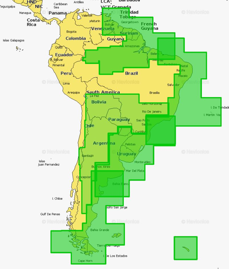 Navionics MSD909P-2 Platinum South America East