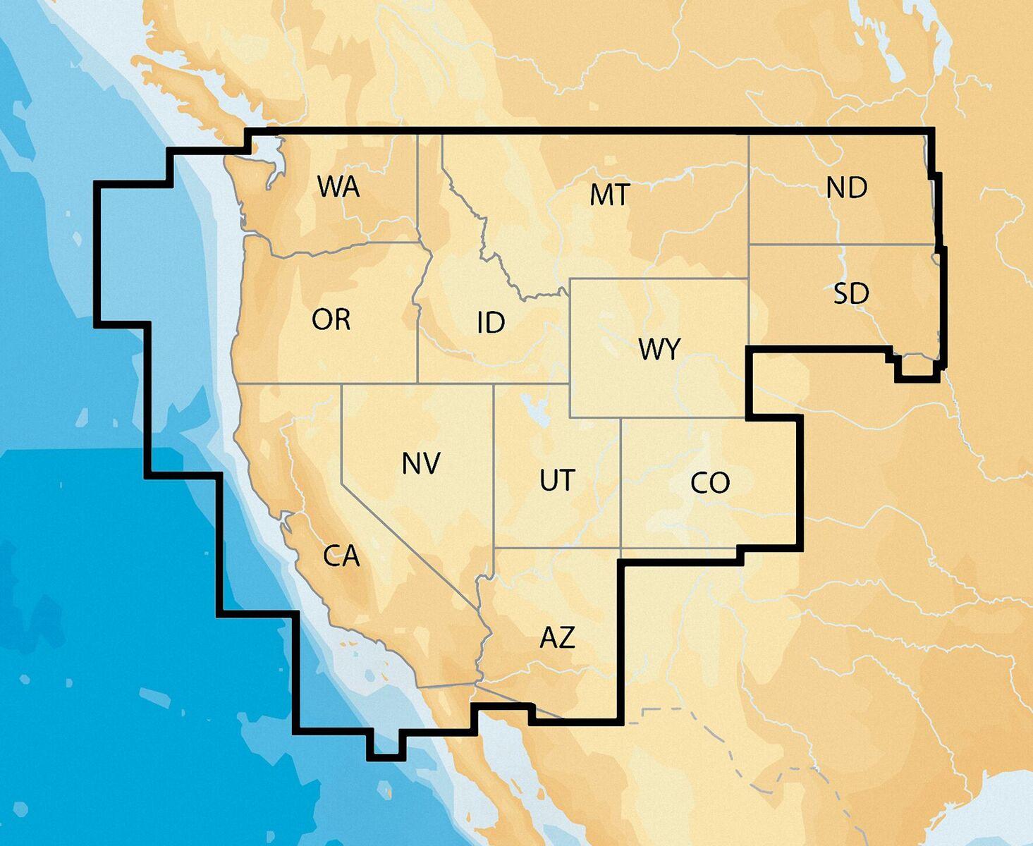 Navionics Nav Plus West MSD Regional Lakes And Coastal