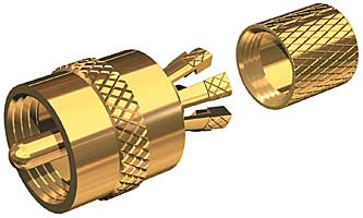 Shakespeare PL259CPG Connector Gold Plated