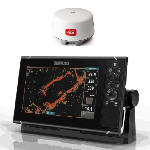 Simrad NSS9 EVO3 Radar Bundle Insight 4G Dome - # 000-13791-001